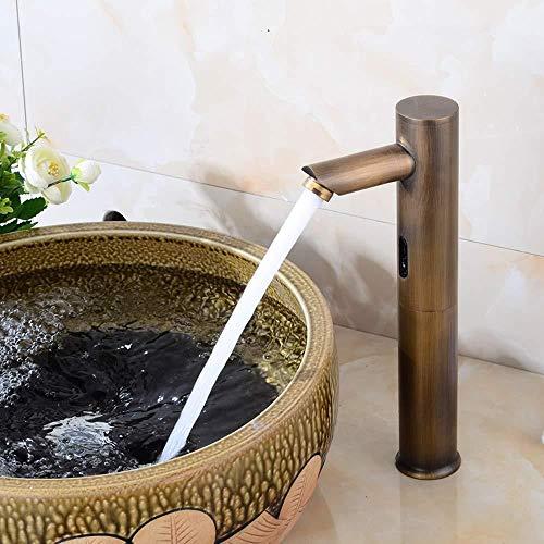 Wasserfall Becken kalt Retro berührungslose europäischen Stil Wasserhahn antike Bronze Infrarot-Sensor Smart Waschbecken Wasserhahn