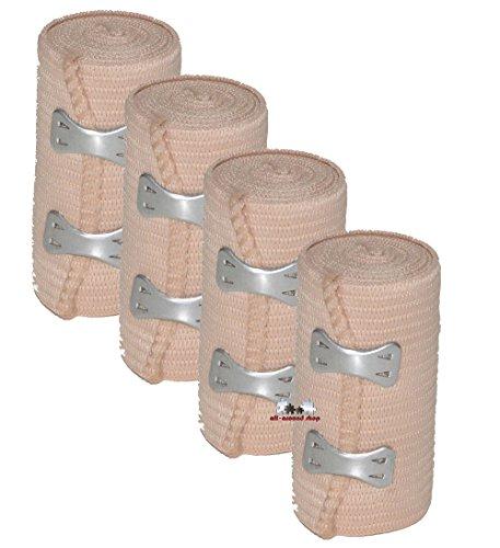 4 Stück all-around24® Elastikbandage Bandage Sportbandage Stützbandage...