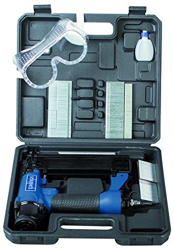 Scheppach Druckluftpistole 2in1 Klammer und Nagelpistole (Nägel bis 50mm, Klammern bis 40mm, Luftbedarf je Schuss 1,5L , Arbeitsdruck 8,3 bar, 360°...