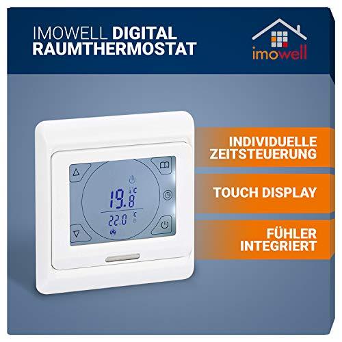 Digital Raumthermostat DRT-TS mit Touchscreen für elektrische Heizungen,...