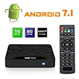 Android 7.1 TV Box, 2019 SeeKool Android Smart TV Box 1GB RAM 8GB, Amlogic S905W Quad Core CPU, tukee 4K Full HD H.265 / WiFi 2.4Ghz / 100M ...