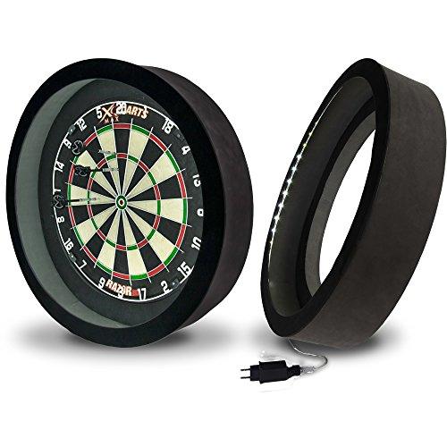 XQ Max - Sirius 6.0 LED - Licht mit integriertem Surround - Dartboard - Beleuchtungssystem - EU Edition (Black)