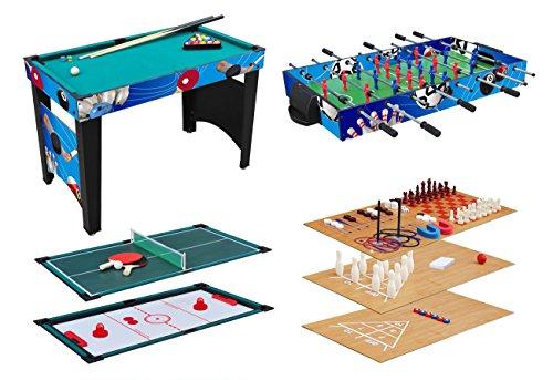KMH®, Spieltisch 12 in 1 / Multigame Tisch / Multifunktionstisch / Billard /...