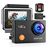 APEMAN Action Cam A77, 4K WiFi 16MP Underwater Camera Digital Vanntett 30M ...
