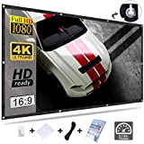 KPCB Beamer Leinwand 16: 9 192X111cm HD 4K Faltbarer Faltenresistent, geeignet für Heimkino und Außenfilm (84 Zoll)