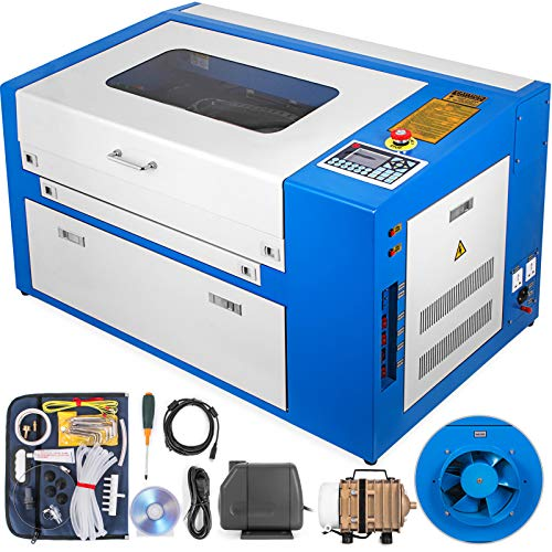 VEVOR 50w USB CO2 Laser Graviermaschine 300x500mm Laser Engraving Maschine USB Anschluss Schneiden Dickenschnitt 10mm Graviergerät (50W)