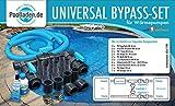 well2wellness® Pool Bypass Set UNIVERSAL für Wärmepumpen, Poolheizungen und...