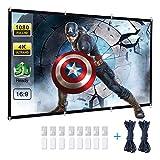 Powerextra HD 16: 9 271x154cm(120 Zoll) Projektion Leinwand - Keine Falte tragbare Tasche Projektionswand Unterstützung Doppelseitigen Projektion...