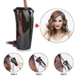 iGutech Automatic curler with intelligent smart sensor, in a new and very handy design black