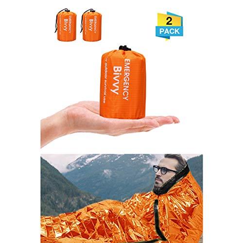 Charminer Notfallzelt,Biwaksack Survival Schlafsack warm Outdoor Tube Zelt wasserdicht leicht hitzeabweisend Kälteschutz Ultraleicht Rettungszelt...