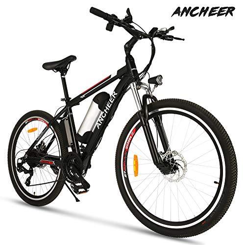ANCHEER Elektrofahrrad Ebike Mountainbike, 26'/27.5' Elektrisches Fahrrad mit 36V 8Ah/10Ah/12Ah Lithium-Batterie und Shimano 21-Gang (26' klassischer...