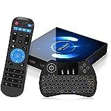 Android TV Box 10.0 mit Minitastatur 【4G+64G】 QPLOVE Q6 Smart TV Box mit...