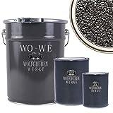 WO-WE Steinteppich SET 25kg Marmorkies + 1,5kg Epoxidharz Bindemittel + Mischeimer | Schwarz 1-4mm