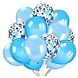 HOWAF 40 stykker blå ballon sæt, blå konfetti ...
