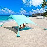 2,4x2,4m Beach StrandZelt mit Picknickdecke und Sandsack...