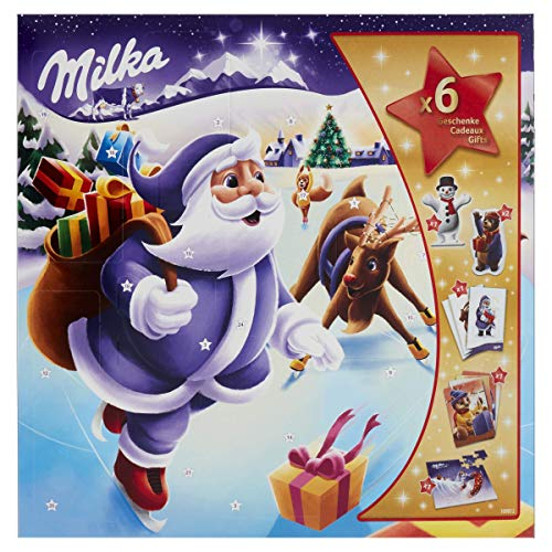 Milka Weihnachtsfreunde Adventskalender 1 x 143g, Mix aus 7...