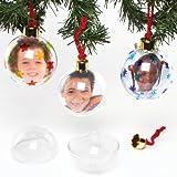 Baker Ross Photo Christmas Balls Large and Transparent (4 stk)