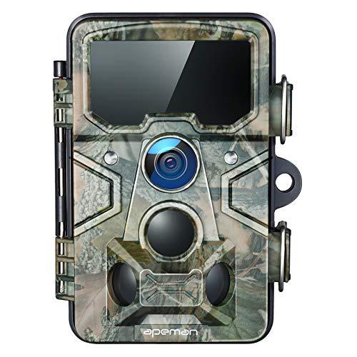 APEMAN Wildkamera 20MP 1080P mit 16GB SD-Karte, 120° Erkennungsreichweite 116°...