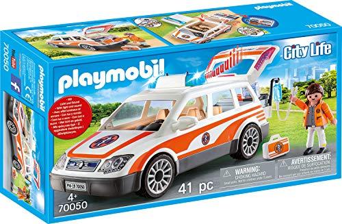 PLAYMOBIL City Life 70050 Notarzt-PKW mit Licht und...