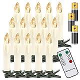 Hengda 40 LED kerstkaarsen draadloos warm wit, met ...