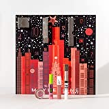 Maybelline New York advent calendar with cosmetics behind 24 ...