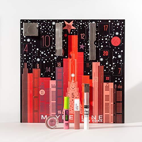Maybelline New York Adventskalender mit Kosmetik hinter 24...