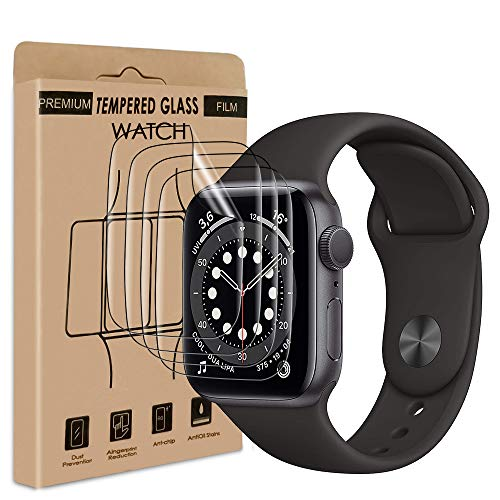 wsky [4 Stück] Schutzfolie Displayschutzfolie kompatibel mit Apple Watch Series...