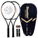 Senston tennis racket women men 2X tennis racket set with tennis bag, overgrip, vibration damper