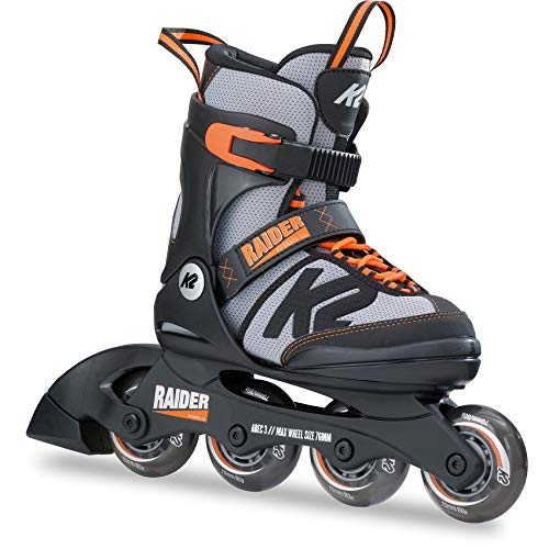 K2 Skates Jungen Inline Skate Raider — black - grey - orange — L (EU: 35-40...