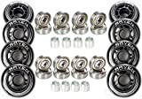 RAVEN wheels for inline skates with ball bearings Abec7 / Abec9 (76mm + ABEC-9 Chrome)