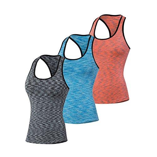 QUTOOL Sporttop Ladies Sportshirt for Ladies Yoga Top Functionstop Ladies Sportshirt Women Sport Top