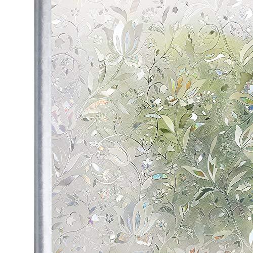 Homein Fensterfolie Selbsthaftend Sichtschutzfolie Folie für Fenster Blickdicht...