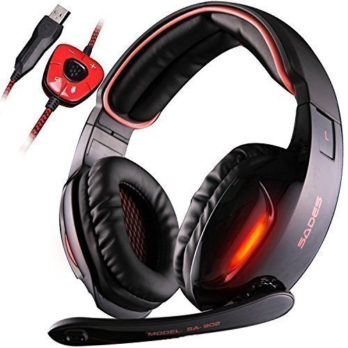 Gaming Headsets, SADES SA902 Kopfhörer Gaming Dolby 7.1-Surround-Sound für PC...