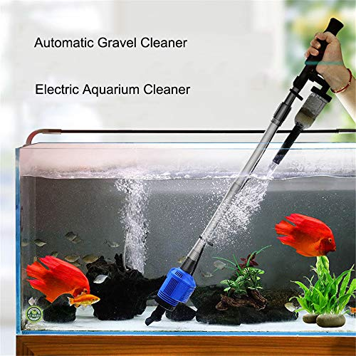 JFJL Aquarium Kiesreiniger - Elektrischer Automatischer Vakuumwasser-Wechsler-Flexibler Aquarium-Sand-Algen-Reiniger-Filter-Wechsel,...