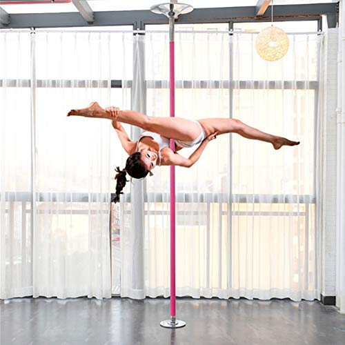 HYRL Professionelle Rotierende Tanzstange, Fitness Dance Pole Kit Portable Abnehmbare 30 Mm Für Fitness Club Party Bar Familie