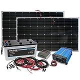 Insel Solaranlage PV-Anlage 1500W AC/Panel, Batterie,...