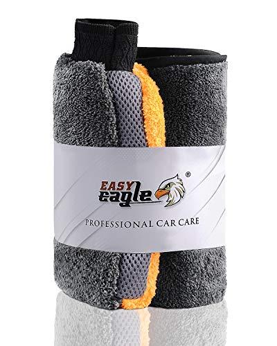 EASY EAGLE Mikrofasertücher Autowaschhandschuh Tücher Set, 1200GSM...