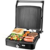 OSTBA contact grill, electric indoor grill, sandwich maker with temperature control, 4 discs ...