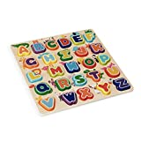 wuuhoo® I Buchstaben Puzzle Cleverly aus Holz I Farbenfrohes Steck-Puzzle mit...