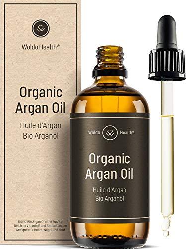 Bio Arganöl kaltgepresst für Gesicht & Haar - 100ml ohne Zusätze mit Pipette