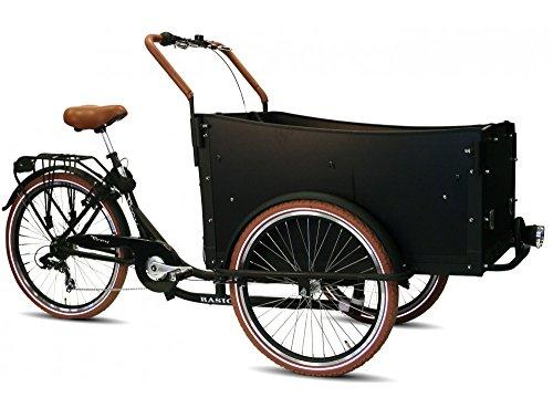 Cargobike Troy Bakfiets, Schwarz