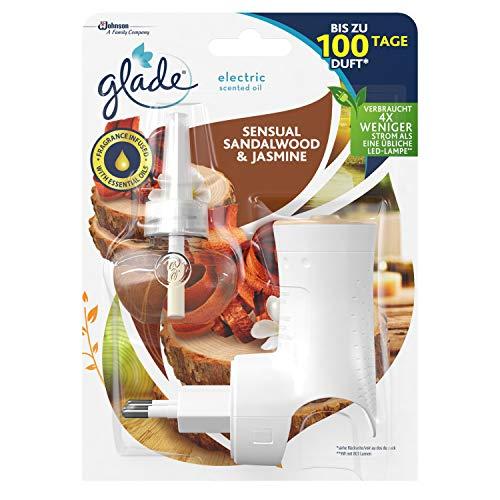 Glade (Brise) Electric Scented Oil, elektrischer Raumduft mit Duftöl inkl. 1 Nachfüller, Sensual Sandelwood & Jasmine, 20 ml