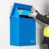 Smart Parcel Box, mittelgroßer Paketbriefkasten mit Paketfach und Briefkasten,...