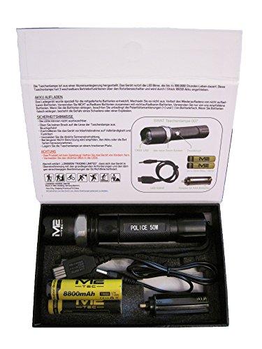 Ultra brillantes SWAT profesional cree Hi-Power LED chip linterna con zoom 5800ma batería