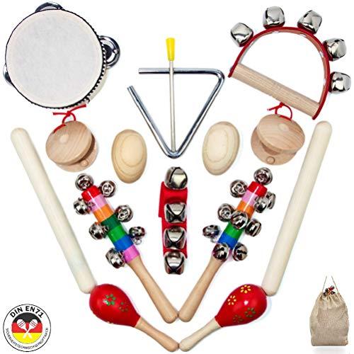 SCHMETTERLINE® Musikinstrumente-Set für Kinder aus Holz - 15 TLG. Musik-Spielzeug mit Premium Rhythmus-Instrumenten ab 3 Jahre für eine...