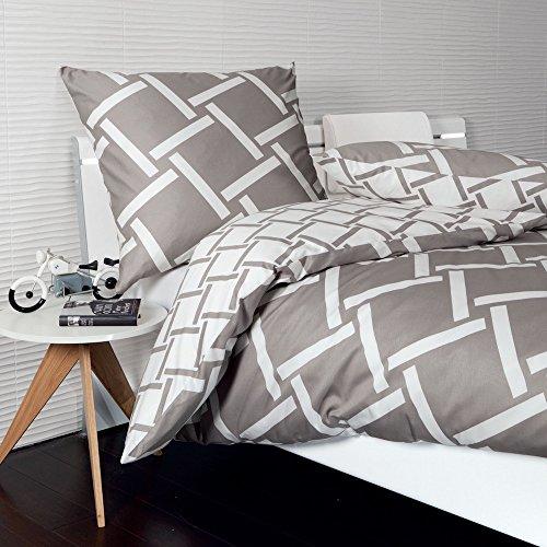 Janine Design Mako-Satin Bettwäsche J.D. 8480-07 1 Bettbezug 135x200 cm + 1 Kissenbezug 80x80 cm