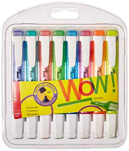 Textmarker STABILO BOSS ORIGINAL Pastel 8er Pack mit 8 verschiedene Farben