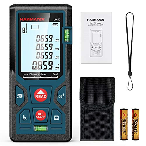 Entfernungsmesser, HANMATEK LM50 50M Digitales Laser Entfernungsmesse mit LCD...