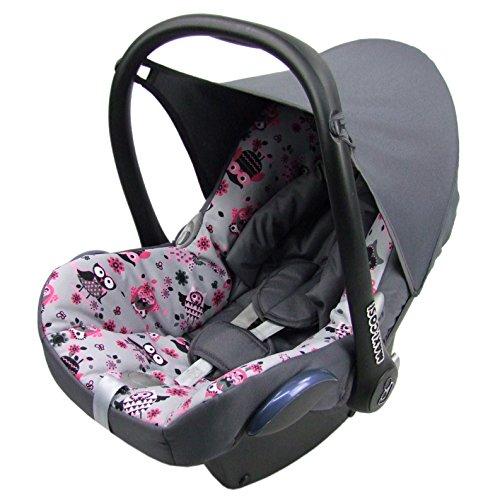 Bezug f/ür Babyschale Komplett-Set GRAU//BLAU BAMBINIWELT Ersatzbezug f/ür Maxi-Cosi CabrioFix 6-tlg
