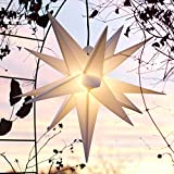 Mit LED Außenstern 65 cm weiß beleuchteter Stern, Wetter-...